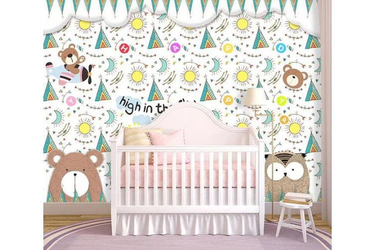 3D Home Wallpaper Cute Bear D89 ACH Wall Murals Woven paper (need glue), XXXXL 520cm x 290cm (WxH)(205''x114'')