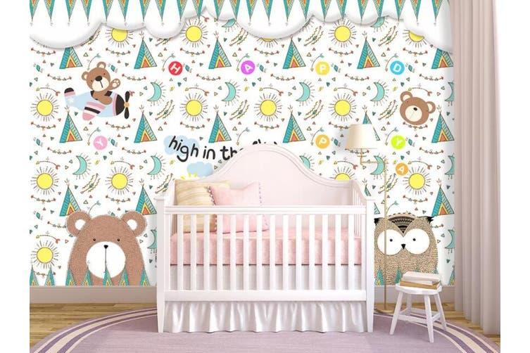 3D Home Wallpaper Cute Bear D89 ACH Wall Murals Self-adhesive Vinyl, XXXXL 520cm x 290cm (WxH)(205''x114'')