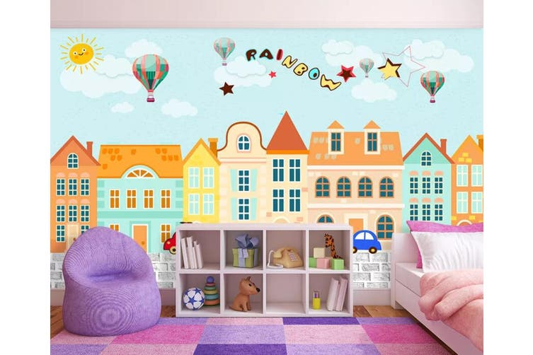 3D Home Wallpaper Urban Color D88 ACH Wall Murals Woven paper (need glue), XXXL 416cm x 254cm (WxH)(164''x100'')