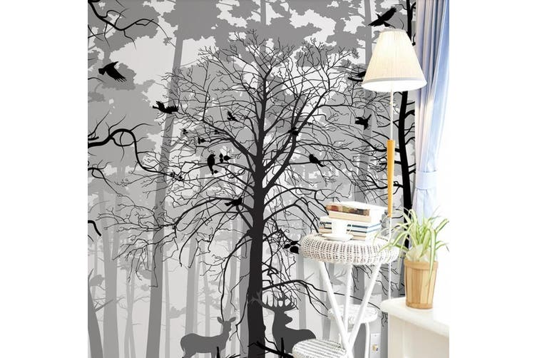3D Home Wallpaper Foggy Forest D87 ACH Wall Murals Self-adhesive Vinyl, XXL 312cm x 219cm (WxH)(123''x87'')