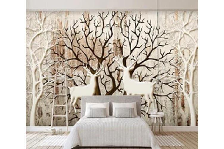 3D Home Wallpaper Deer Forest D85 ACH Wall Murals Woven paper (need glue), XXL 312cm x 219cm (WxH)(123''x87'')