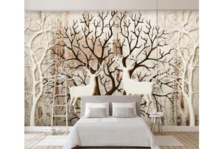 3D Home Wallpaper Deer Forest D85 ACH Wall Murals Self-adhesive Vinyl, XXXL 416cm x 254cm (WxH)(164''x100'')