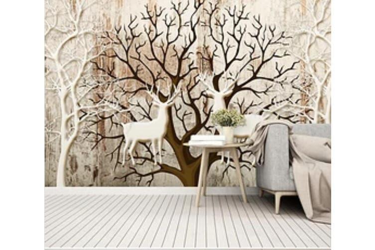 3D Home Wallpaper Deer Forest D85 ACH Wall Murals Self-adhesive Vinyl, XXXXL 520cm x 290cm (WxH)(205''x114'')