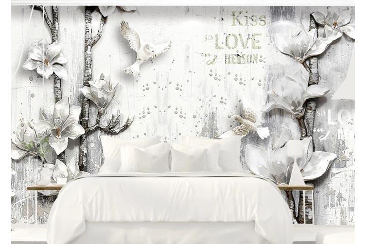 3D Home Wallpaper Flower D84 ACH Wall Murals Woven paper (need glue), XL 208cm x 146cm (WxH)(82''x58'')