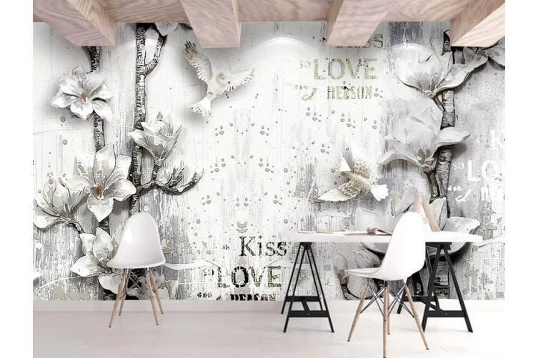 3D Home Wallpaper Flower D84 ACH Wall Murals Self-adhesive Vinyl, XXL 312cm x 219cm (WxH)(123''x87'')