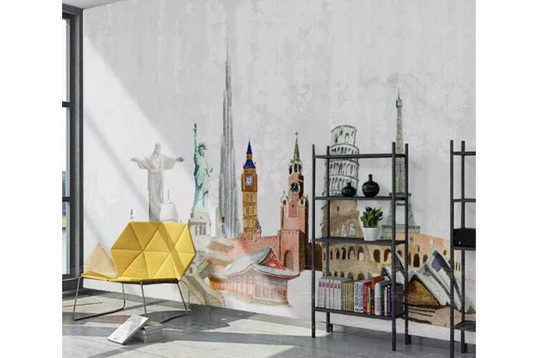3D Home Wallpaper Castle D83 ACH Wall Murals Woven paper (need glue), XXL 312cm x 219cm (WxH)(123''x87'')