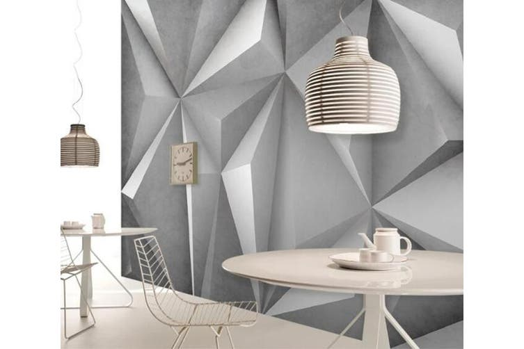 3D Home Wallpaper Geometric Piece D82 ACH Wall Murals Woven paper (need glue), XXL 312cm x 219cm (WxH)(123''x87'')