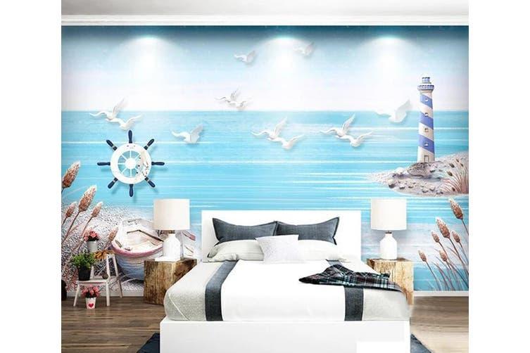 3D Home Wallpaper Sea Seabird D81 ACH Wall Murals Woven paper (need glue), XL 208cm x 146cm (WxH)(82''x58'')