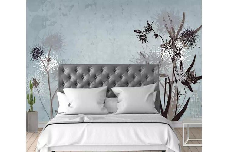 3D Home Wallpaper Dandelion D80 ACH Wall Murals Woven paper (need glue), XXL 312cm x 219cm (WxH)(123''x87'')
