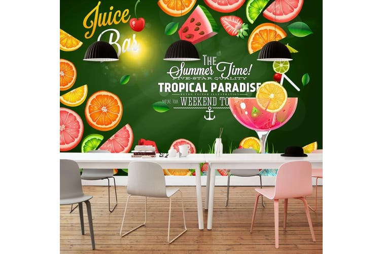 3D Home Wallpaper Strawberry Orange D61 Food ACH Wall Murals Woven paper (need glue), XXXL 416cm x 254cm (WxH)(164''x100'')