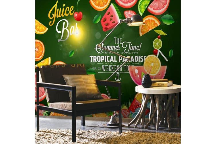 3D Home Wallpaper Strawberry Orange D61 Food ACH Wall Murals Self-adhesive Vinyl, XXL 312cm x 219cm (WxH)(123''x87'')