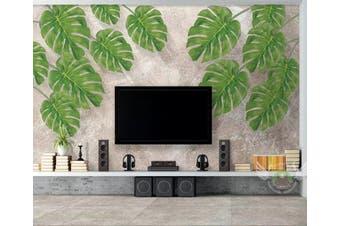 3D Home Wallpaper Leaves D79 ACH Wall Murals Woven paper (need glue), XXXXL 520cm x 290cm (WxH)(205''x114'')