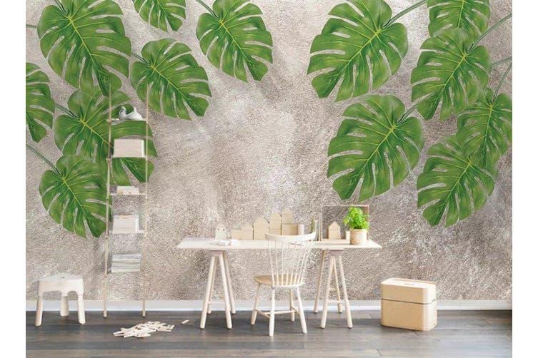 3D Home Wallpaper Leaves D79 ACH Wall Murals Self-adhesive Vinyl, XL 208cm x 146cm (WxH)(82''x58'')