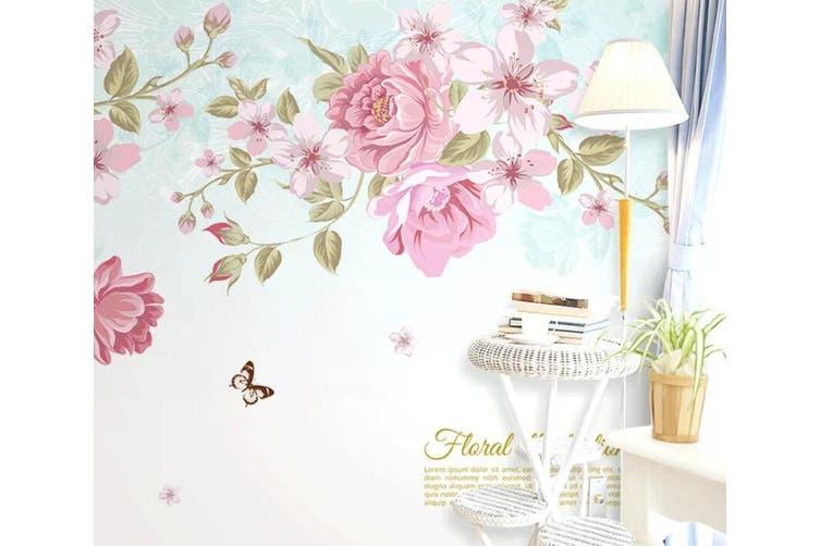 3D Home Wallpaper Flower Butterfly D78 ACH Wall Murals Woven paper (need glue), XXXL 416cm x 254cm (WxH)(164''x100'')