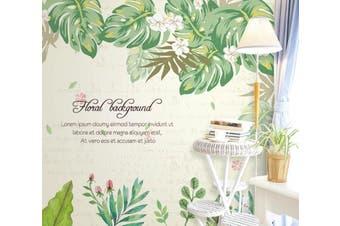 3D Home Wallpaper Leaves D77 ACH Wall Murals Woven paper (need glue), XL 208cm x 146cm (WxH)(82''x58'')