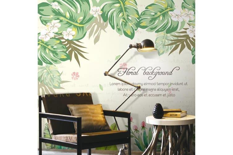 3D Home Wallpaper Leaves D77 ACH Wall Murals Self-adhesive Vinyl, XL 208cm x 146cm (WxH)(82''x58'')