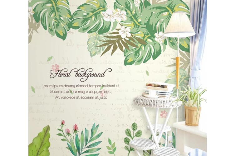 3D Home Wallpaper Leaves D77 ACH Wall Murals Self-adhesive Vinyl, XXXXL 520cm x 290cm (WxH)(205''x114'')