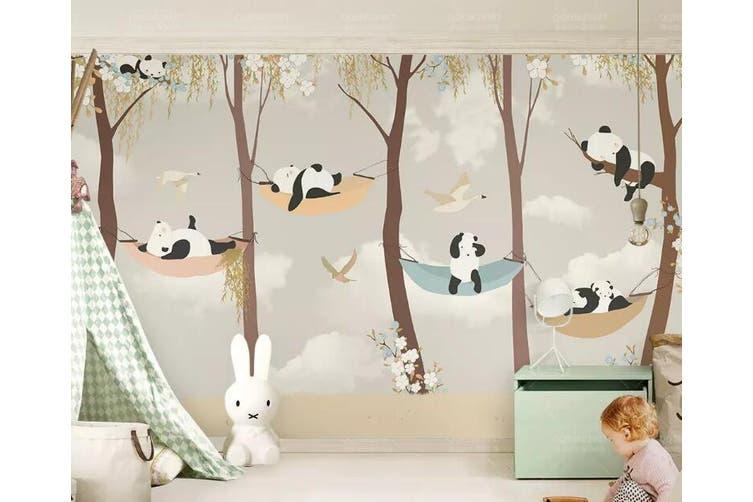 3D Home Wallpaper Panda D75 ACH Wall Murals Woven paper (need glue), XXL 312cm x 219cm (WxH)(123''x87'')