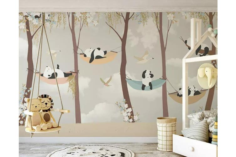 3D Home Wallpaper Panda D75 ACH Wall Murals Woven paper (need glue), XXXXL 520cm x 290cm (WxH)(205''x114'')
