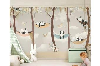 3D Home Wallpaper Panda D75 ACH Wall Murals Self-adhesive Vinyl, XXL 312cm x 219cm (WxH)(123''x87'')