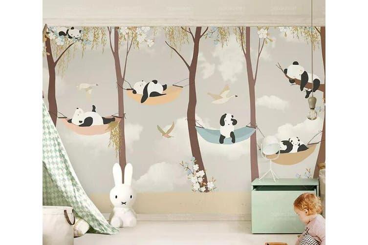 3D Home Wallpaper Panda D75 ACH Wall Murals Self-adhesive Vinyl, XXXL 416cm x 254cm (WxH)(164''x100'')