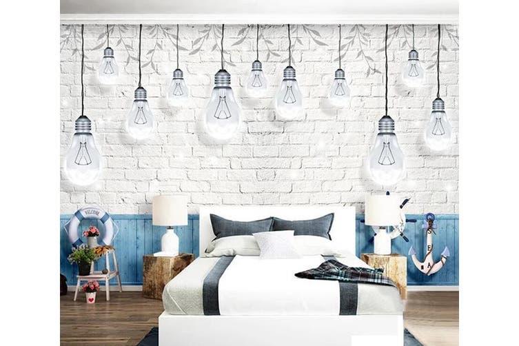 3D Home Wallpaper Light Bulb D74 ACH Wall Murals Woven paper (need glue), XXL 312cm x 219cm (WxH)(123''x87'')