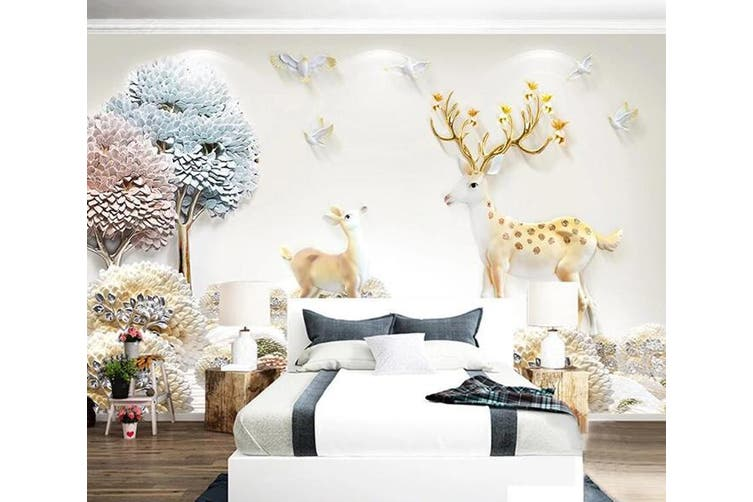 3D Home Wallpaper Small Tree Forest D73 ACH Wall Murals Woven paper (need glue), XXXL 416cm x 254cm (WxH)(164''x100'')