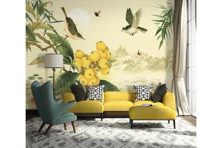 3D Home Wallpaper Ostrich D71 ACH Wall Murals Woven paper (need glue), XXL 312cm x 219cm (WxH)(123''x87'')