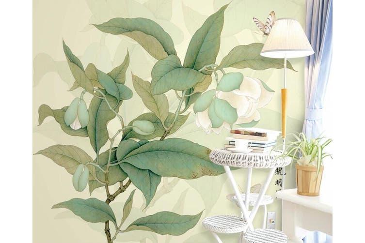3D Home Wallpaper Leaves D70 ACH Wall Murals Woven paper (need glue), XXL 312cm x 219cm (WxH)(123''x87'')