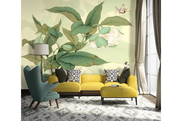 3D Home Wallpaper Leaves D70 ACH Wall Murals Woven paper (need glue), XXXL 416cm x 254cm (WxH)(164''x100'')