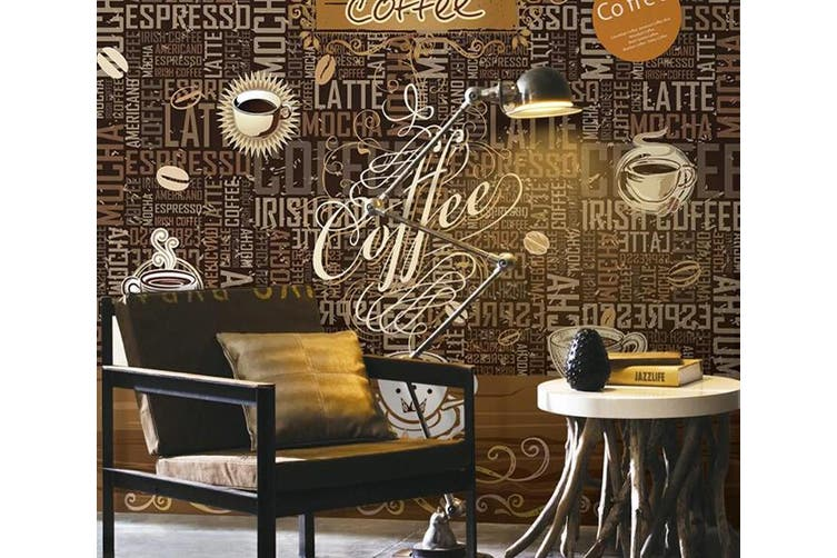 3D Home Wallpaper Coffee D69 Food ACH Wall Murals Self-adhesive Vinyl, XL 208cm x 146cm (WxH)(82''x58'')