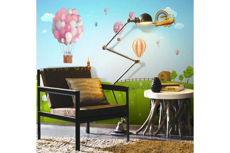 3D Home Wallpaper Hot Air Balloon D68 ACH Wall Murals Woven paper (need glue), XXL 312cm x 219cm (WxH)(123''x87'')