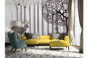 3D Home Wallpaper Deer Forest D67 ACH Wall Murals Woven paper (need glue), XXL 312cm x 219cm (WxH)(123''x87'')