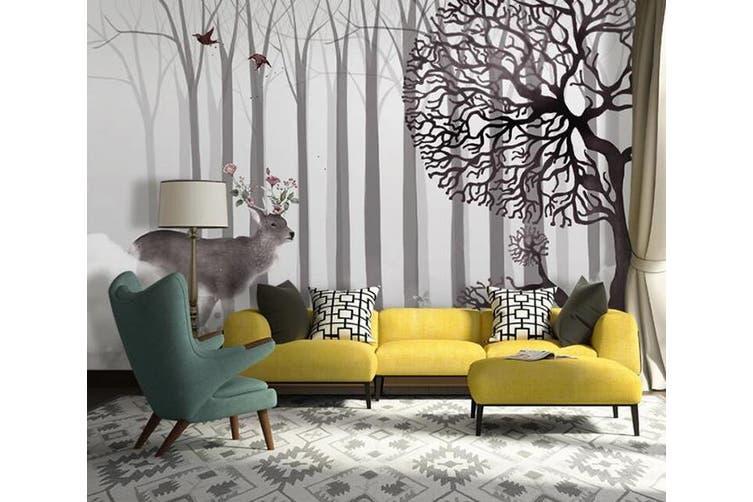 3D Home Wallpaper Deer Forest D67 ACH Wall Murals Self-adhesive Vinyl, XXL 312cm x 219cm (WxH)(123''x87'')