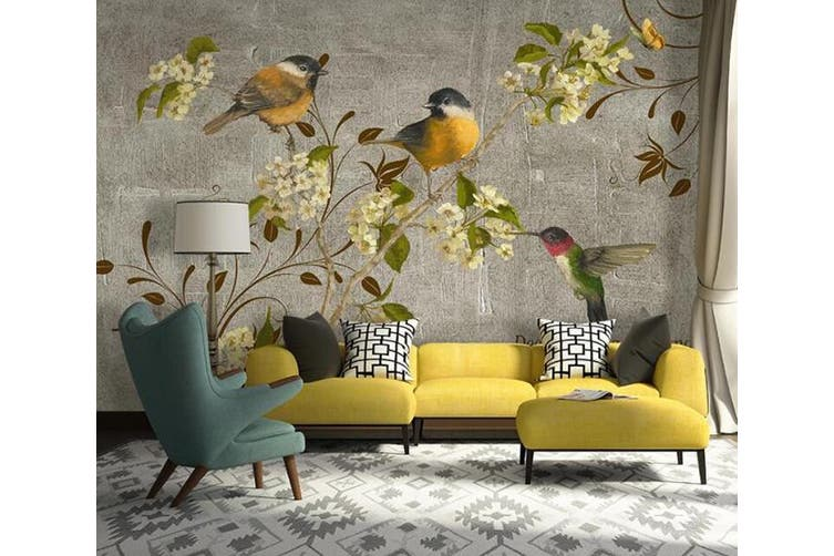 3D Home Wallpaper Branch Bird D66 ACH Wall Murals Woven paper (need glue), XL 208cm x 146cm (WxH)(82''x58'')