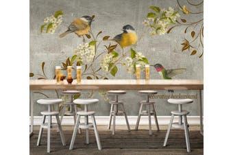 3D Home Wallpaper Branch Bird D66 ACH Wall Murals Woven paper (need glue), XXL 312cm x 219cm (WxH)(123''x87'')