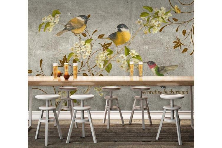 3D Home Wallpaper Branch Bird D66 ACH Wall Murals Woven paper (need glue), XXXL 416cm x 254cm (WxH)(164''x100'')