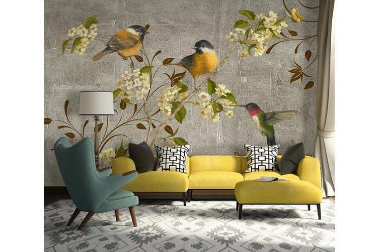 3D Home Wallpaper Branch Bird D66 ACH Wall Murals Self-adhesive Vinyl, XXXL 416cm x 254cm (WxH)(164''x100'')
