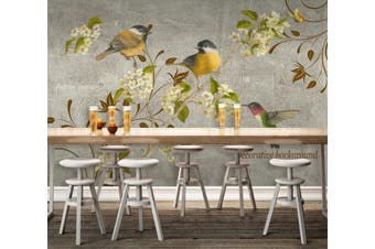 3D Home Wallpaper Branch Bird D66 ACH Wall Murals Self-adhesive Vinyl, XXXXL 520cm x 290cm (WxH)(205''x114'')