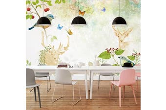 3D Home Wallpaper Branch Bird D64 ACH Wall Murals Woven paper (need glue), XXXL 416cm x 254cm (WxH)(164''x100'')