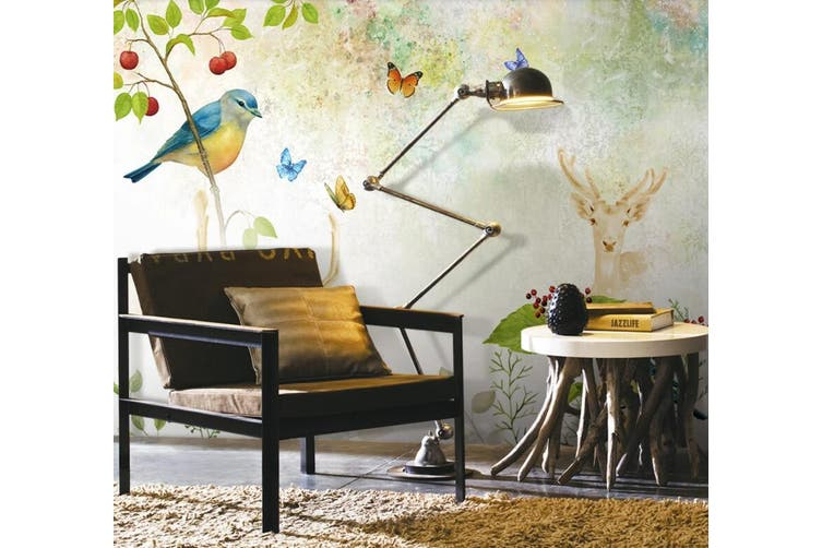 3D Home Wallpaper Branch Bird D64 ACH Wall Murals Woven paper (need glue), XXXXL 520cm x 290cm (WxH)(205''x114'')
