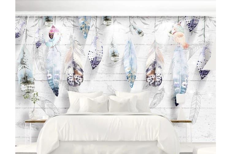 3D Home Wallpaper Feather D62 ACH Wall Murals Woven paper (need glue), XXXL 416cm x 254cm (WxH)(164''x100'')