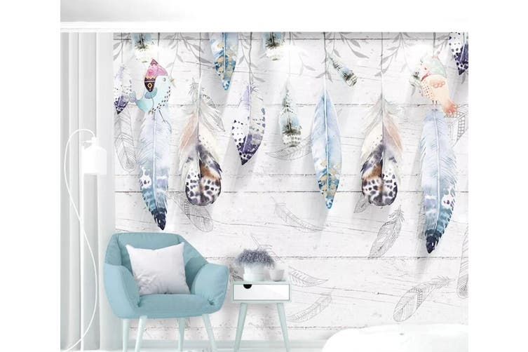 3D Home Wallpaper Feather D62 ACH Wall Murals Self-adhesive Vinyl, XL 208cm x 146cm (WxH)(82''x58'')
