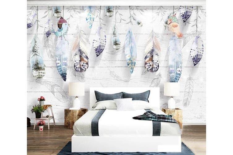 3D Home Wallpaper Feather D62 ACH Wall Murals Self-adhesive Vinyl, XXXL 416cm x 254cm (WxH)(164''x100'')