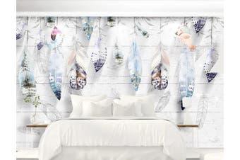 3D Home Wallpaper Feather D62 ACH Wall Murals Self-adhesive Vinyl, XXXXL 520cm x 290cm (WxH)(205''x114'')