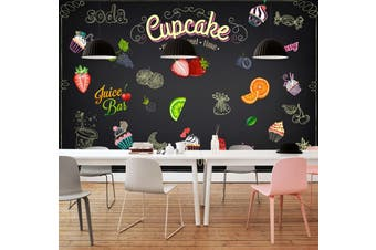 3D Home Wallpaper Strawberry Orange D60 Food ACH Wall Murals Woven paper (need glue), XXL 312cm x 219cm (WxH)(123''x87'')
