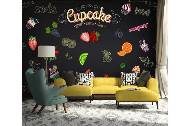 3D Home Wallpaper Strawberry Orange D60 Food ACH Wall Murals Self-adhesive Vinyl, XXXL 416cm x 254cm (WxH)(164''x100'')
