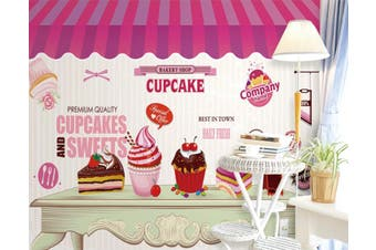 3D Home Wallpaper Ice Cream D59 Food ACH Wall Murals Self-adhesive Vinyl, XL 208cm x 146cm (WxH)(82''x58'')