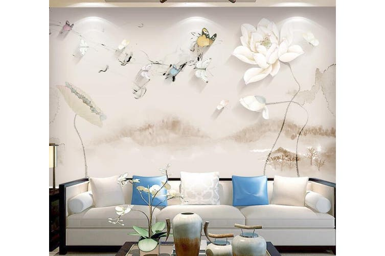 3D Home Wallpaper Flower D58 ACH Wall Murals Woven paper (need glue), XL 208cm x 146cm (WxH)(82''x58'')