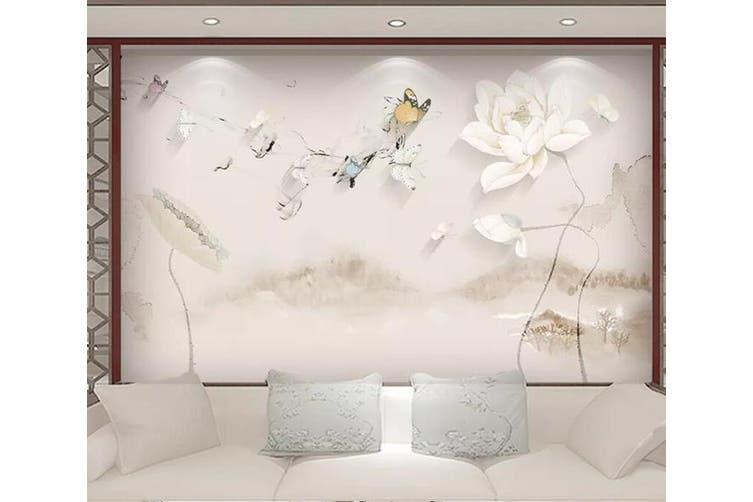 3D Home Wallpaper Flower D58 ACH Wall Murals Woven paper (need glue), XXXL 416cm x 254cm (WxH)(164''x100'')